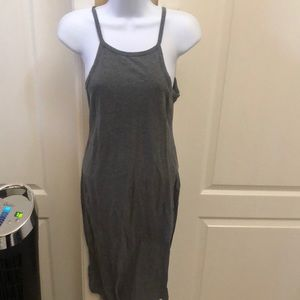 Gray Mid Length Dress